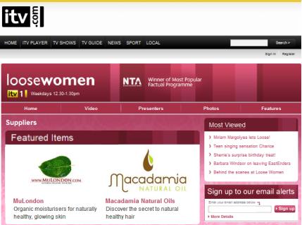 "MuLondon products make stars shine on ITV's ""Loose Women""."