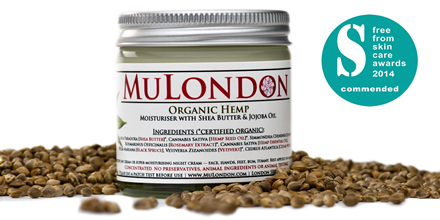 FreeFrom Skincare Awards, Men's Grooming Category Commendation – MuLondon Organic Hemp Moisturiser.