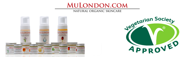 MuLondon Skincare Products Approved By The Vegetarian Society.