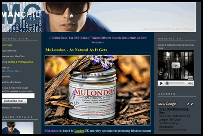 MuLondon on ManChic.com