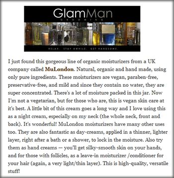 MuLondon products on GlamMan.com