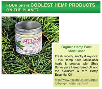 MuLondon Organic Hemp Moisturiser.