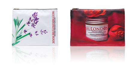MuLondon Organic Skincare Cosmetic Bags.