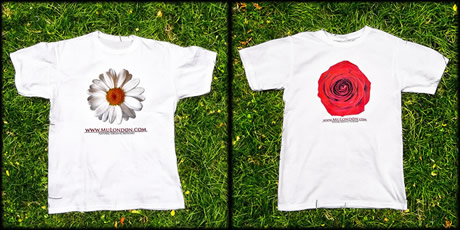 MuLondon Organic Skincare T-shirts.