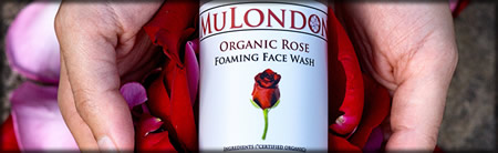 MuLondon Organic Rose Cleanser and Moisturiser.