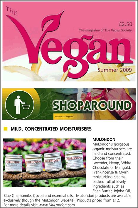 MuLondon in The Vegan magazine!
